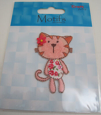 The Craft Factory Applique  Motif Iron on/Sew On - Kitty Cat