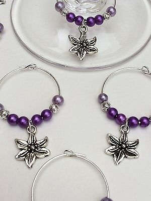 20 Purple/lilac Wine Glass Charms.Wedding,Favour,Party