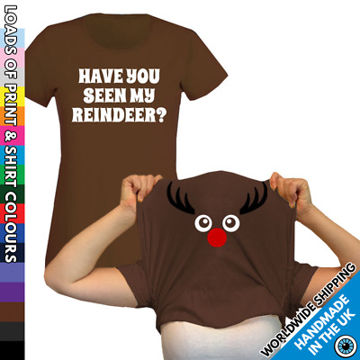 Christmas Reindeer Tshirt Ask Me About T Shirt Ladies Party Work Do Pull Xmas
