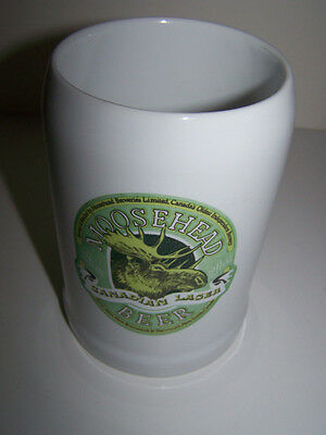 Moosehead Canadian Lager Beer Stein 12 Ounces Porcelain Made