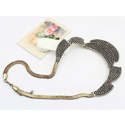 Fashion Jewelry European 9k Yellow Gold Filled Retro Mesh Pendant Necklace Gift