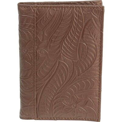 Brown Genuine Leather Embossed US PASSPORT COVER Organizer Travel Wallet Holder