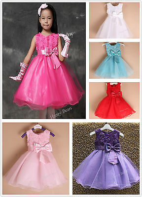 Girls Formal Party Dress Flower Girl Dress Christening Wedding Bridesmaid Dress