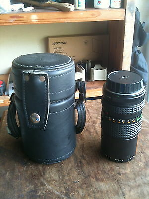 Vintage Pentax Makinon M C Zoom 1:4.5 80-200mm K Mount Lens Original Case Nice