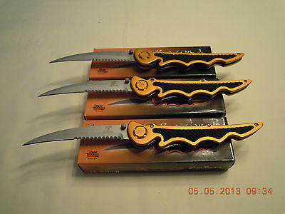 A WHOLESALE LOT OF 3 STING RAZOR 1 FOLDING KNIVES ...ALL NEW IN BOX