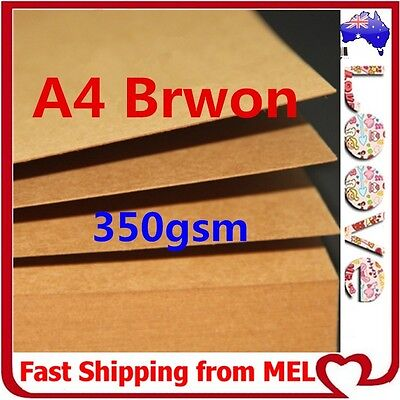 100x A4 350GSM Brown Kraft Thick Paper Sheet Card Recycled Invitation Wedding