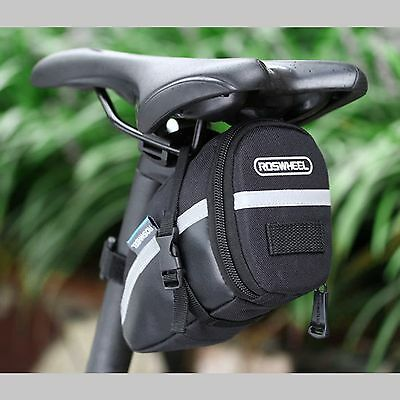 ROSWHEEL Waterproof Bike Saddle Bag Cycling Seat Pouch Bicycle Tail Rear Storage