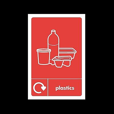 Plastic Waste Recycling - Plastic Sign or Sticker - Choose Size & Material