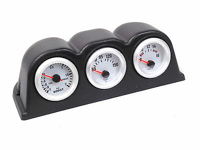 S4 Universal Oil Temp, Boost  Bar + Volt Gauge & Dash Mount Pod