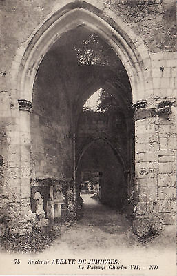 76 Jumieges Abbaye Passage Charles Vii - 75 Nd