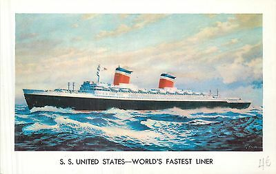 Paquebot S S United States World's Fastest Liner
