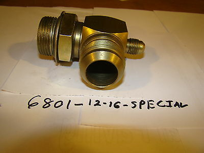 Hydraulic Fitting Part #6801-12-16-SPECIAL Male JIC X Male O-ring 90 Degree