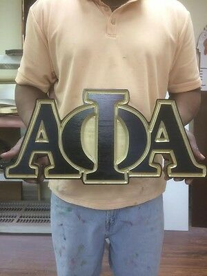 """Alpha Phi Alpha Fraternity - 22"""" (Inch) Carved Letters (Painted)"""