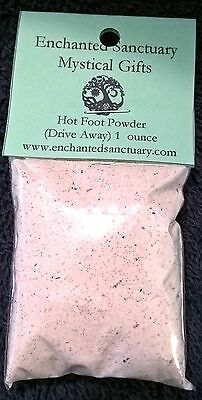 Hot Foot drive away Powder herb wicca witch Hoodoo spell