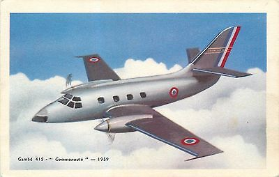 Cp Avion Gambd 415 Communaute 1959 - 4084