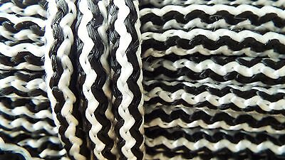 Braided polypropylene poly rope cord yacht boat sailing climbing 8mm WHITE BLACK