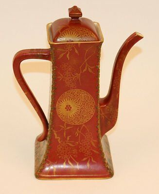 ANTIQUE DOULTON BURSLEM CHINOISERIE LARGE CHOCOLATE/COFFEE POT CHINE'  NR!