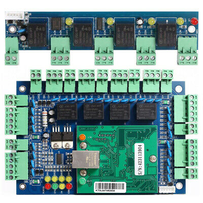 TCP/IP Network Access Control Board Controller + Fire Board Alarm For 4 Door