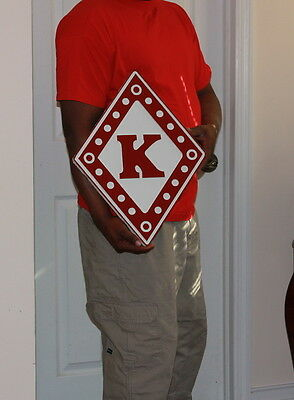 """Kappa Alpha Psi Fraternity - 26"""" (Inch) Carved Diamond (Painted)"""