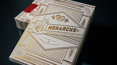 White Gold Monarchs Playing Cards Deck Brand New Sealed Limited Edition