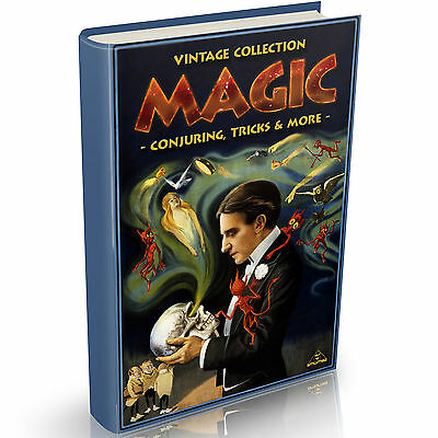 Magic Tricks & Conjuring 96 Vintage Books on DVD Illusions Magician Cards Coin