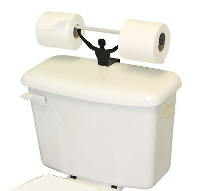 Strong Man Funny Weightlifter Bathroom Toilet Paper Holder
