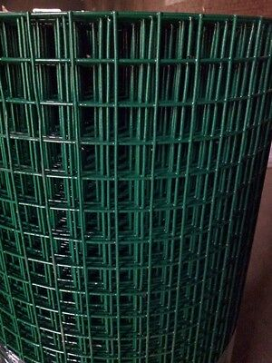 PVC WELDED FENCE MESH 1' X 1' Wire Net 25m 0.9m 1.2m Netting 17 Gauge Garden Gal