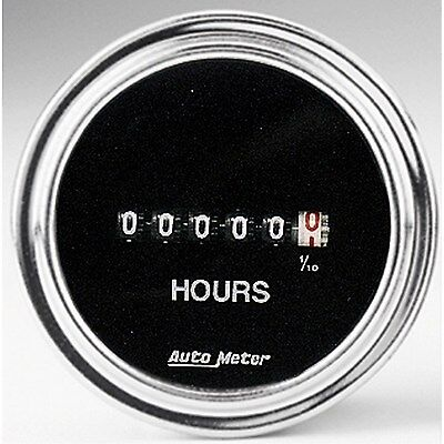 "Autometer Traditional Chrome Hourmeter 2.1/16"" 8-32 Volt - Au2587"