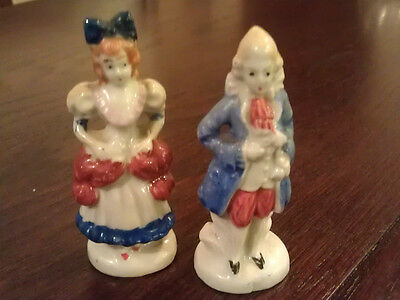 Pair of Porcelain Figurines Colonial Couple Made in Occupied Japan