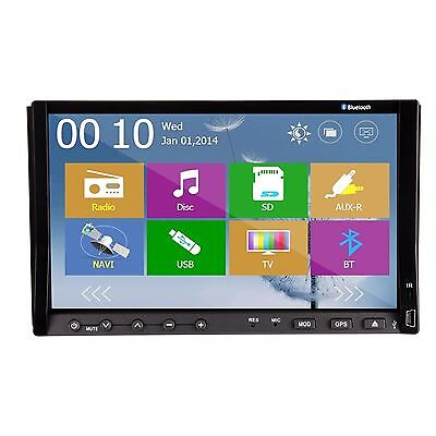 """7"""" LCD Touch Screen 2 Din In-Dash Car DVD Player Bluetooth GPS Stereo RDS Radio"""