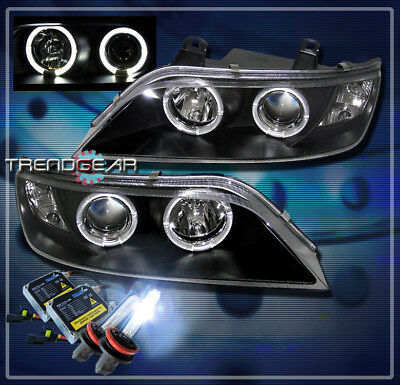 CHROME PROJECTOR HALO HEAD LIGHTS LAMP L/&R+8K HID KIT FOR 1996-2002 BMW Z3 COUPE