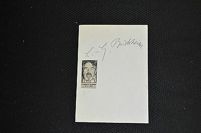 LOTHAR-GÜNTHER BUCHHEIM signed Autogramm 13x18 cm Albumblatt In Person DAS BOOT