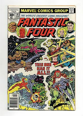 Fantastic Four Vol 1 No 183 Jun 1977 (VFN+)Cents Copy, Marvel Comics, Bronze Age