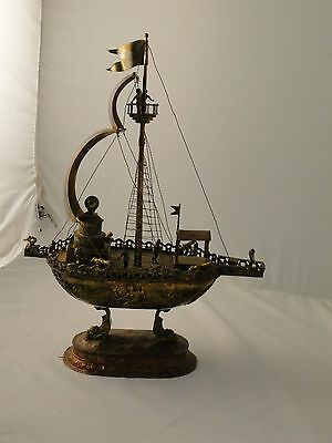NEFF, MODEL OF A BOAT, MIXED METAL, ANTIQUE , GREAT COLOURS, GREAT DETAILS