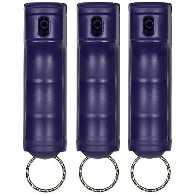 3 PACK Police Magnum pepper spray 1/2oz Purple Flip Top Keychain Safety Security