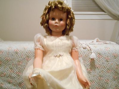 """PLAY PAL Vinyl DOLL 34"""" BEAUTIFUL Shirley Temple CURLS! + TUTU *EXTRA OUTFIT!"""