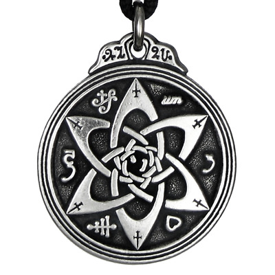 Talisman for Poets Writers Pendant Solomon Seal Amulet Hermetic kabbalah Jewelry