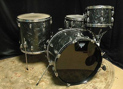 Slingerland Vintage 1958 Black Diamond Pearl Drum Set 8x12, 16x16, 14x20, 5½x14