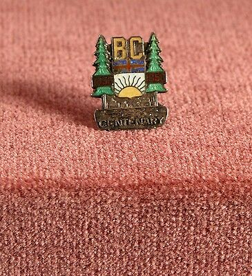 Vintage British Columbia Centenary 1858-1958 Sterling Silver Brooch/Pin