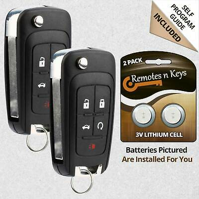 2 Replacement Keyless Remote Key Fob For Camaro Impala LaCrosse OHT01060512