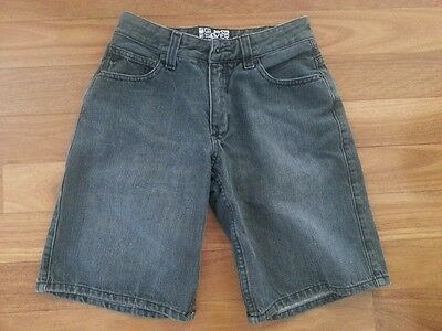 Quiksilver Grey Denim Kids Casual Shorts Size Age 12