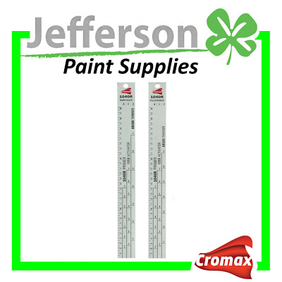 2 x Paint Mixing Stick  Metal Rulers 4:1:1/4:1:2 Ratio PRIMER ACTIVATOR THINNER