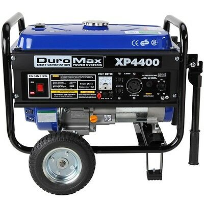 DuroMax XP4400 Portable Gas Powered Recoil Start Generator - RV Home Backup