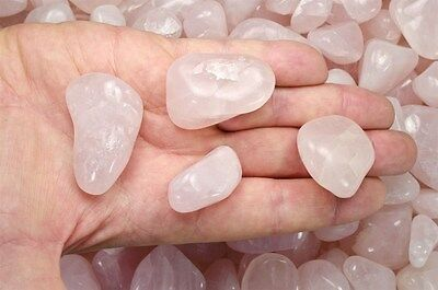 3 Pounds Tumbled Rose Quartz - 'A' Grade - Wire Wrapping, Reiki, Crystal Healing