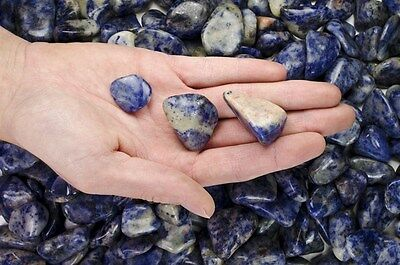 1/2 Pound Tumbled Sodalite - 'AA' Grade - Wire Wrapping, Reiki, Wicca