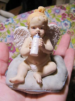 "Sweet Silvestri Baby Girl Angel ""Growth Comes from Sitting & Thinking"" Figurine"