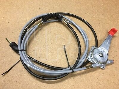 JCB 3CX and 4CX THROTTLE CABLE 910/48800, COMPLETE WITH LEVER ------- NEW