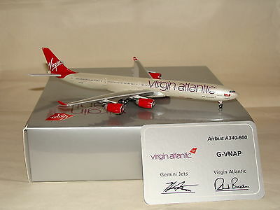 GJVIR1083 1:400 Gemini Jets Virgin Atlantic A340-600 G-VNAP free shipping