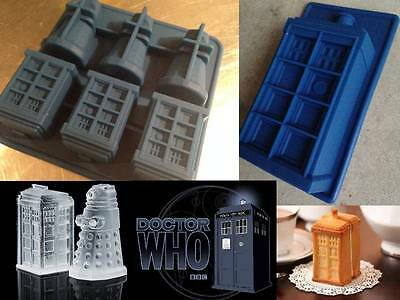Dr Who Dalek Tardis Silicone Cake Crayon Choclate Soap Ice Mold Mould Police Box