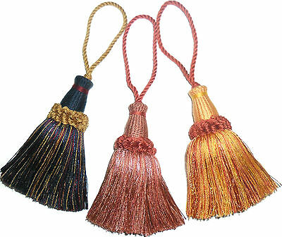 Large Key Tassels- Assorted Colours, X4, Cushion, Blinds, Curtains, Art 23150